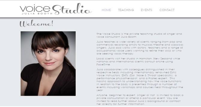 Voice Studio Julia Booth